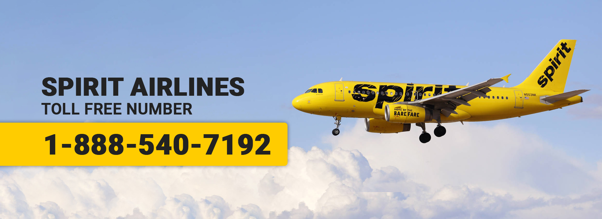 Spirit Airlines Support Number 1-888-540-7192